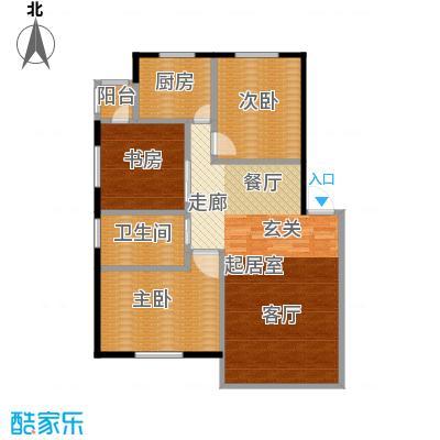 绿江太湖城黄金水岸112.00㎡6号楼户型3室2厅1卫