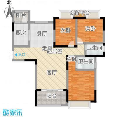 �湖世纪城130.44㎡16、19#楼01房户型3室2厅2卫