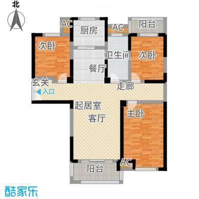 国金怡桂苑122.29㎡F户型3室2厅1卫