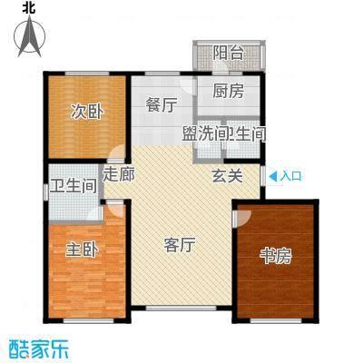 香格里拉花园136.00㎡C户型3室2厅2卫LL