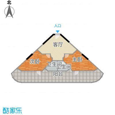 东能银滩户型2室1厅2卫
