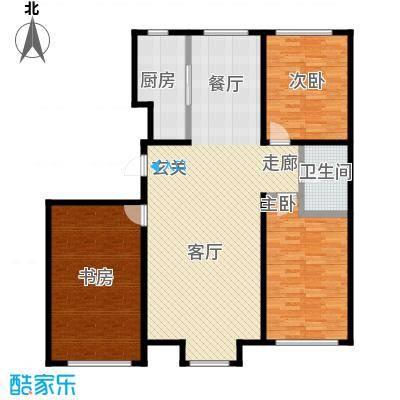 香格里拉花园121.00㎡F2户型3室2厅1卫