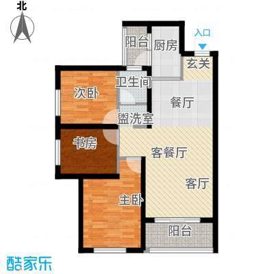 万科悦城户型3室1厅1卫1厨