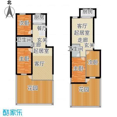 梧桐苑户型4室2卫2厨