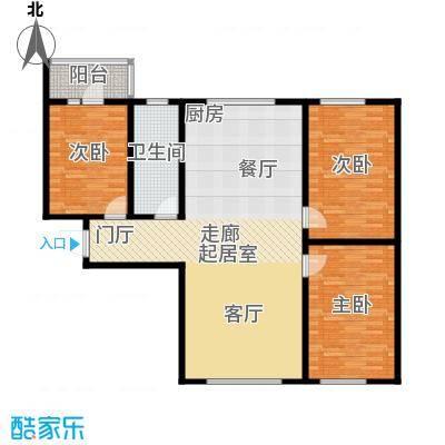 康城户型3室1卫