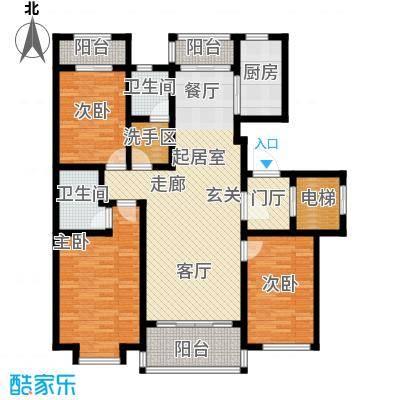 听海蓝珊146.50㎡C2户型3室2厅2卫