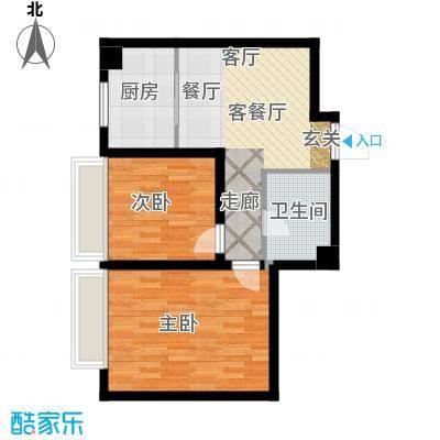 中国城建伦敦公元中国城建伦敦公元G1户型图2室2厅1卫-60.00㎡户型2室2厅1卫
