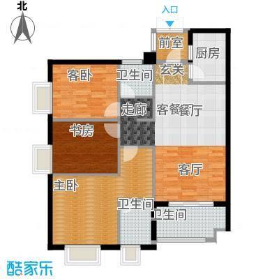 阳光城丽兹公馆户型3室1厅3卫1厨