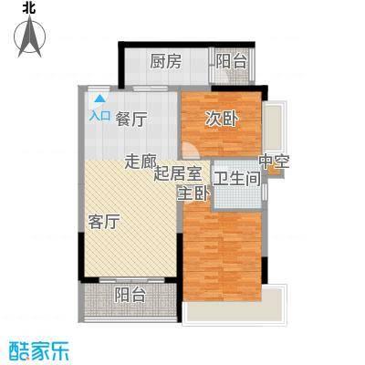 海蔚广场商务大厦二室二厅一卫94.55平米户型