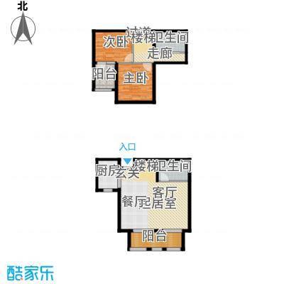 钱塘梧桐燕庐119.57㎡H户型2室2厅2卫