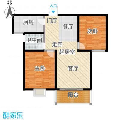 水岸金城水岸金城 C1户型 两室两厅一卫83㎡户型2室2厅1卫