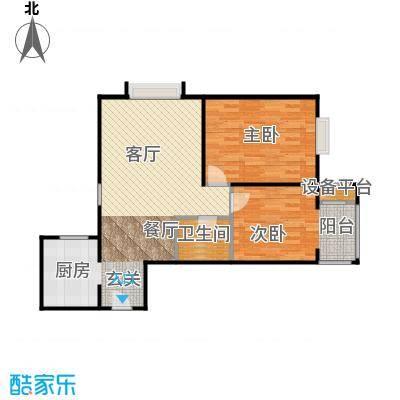 首创漫香郡二居户型A1一单元01号2室2厅1卫户型2室2厅1卫