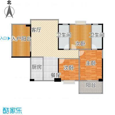海景1号110.77㎡3号楼01户型3室2厅2卫