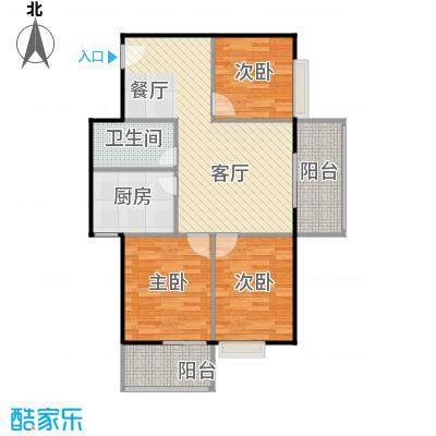 海景1号89.89㎡1号楼05户型3室2厅