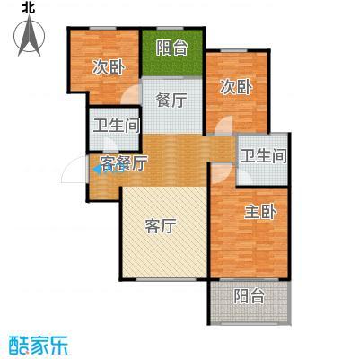 广泰瑞景城106.06㎡户型3室2厅2卫