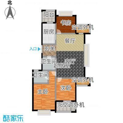 新湖保亿御景国际141.29㎡B1户型 3室2厅2卫户型3室2厅2卫