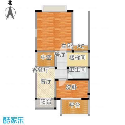 海上普罗旺斯120平米三房两厅两卫户型