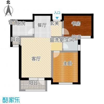 南麓雅筑101.00㎡C户型2室2厅1卫