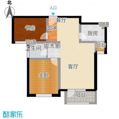 南麓雅筑101.00㎡B户型2室2厅1卫