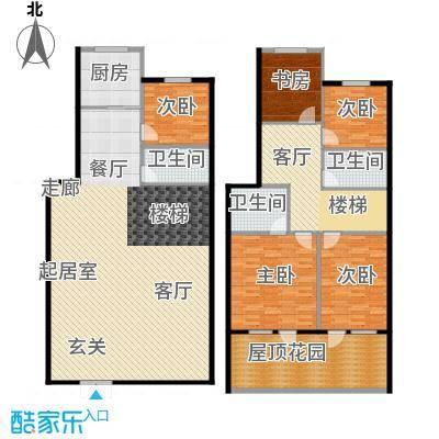 绿江太湖城金色水岸219.12㎡G户型:跃层户型