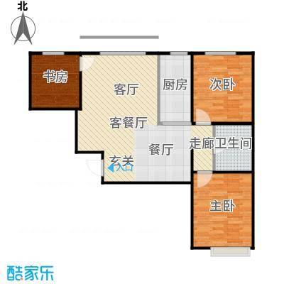 新华名座E座住宅楼户型3室1厅1卫1厨