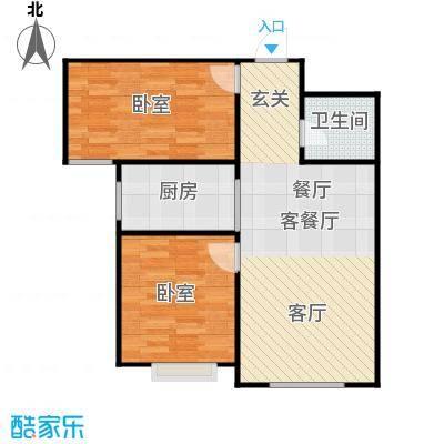 新华名座E座住宅户型1厅1卫1厨