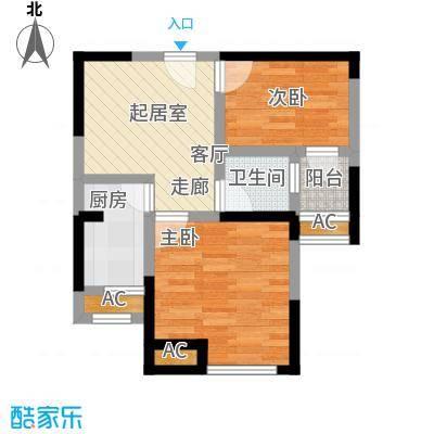 国金怡桂苑47.35㎡E户型2室1厅1卫