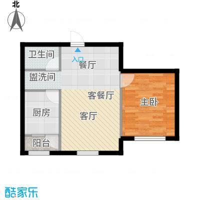 华溪龙城二期67.50㎡F2、F3户型一室两厅一卫户型1室2厅1卫