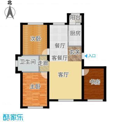 华溪龙城二期114.54㎡C1、C2户型三室二厅一卫户型3室2厅1卫