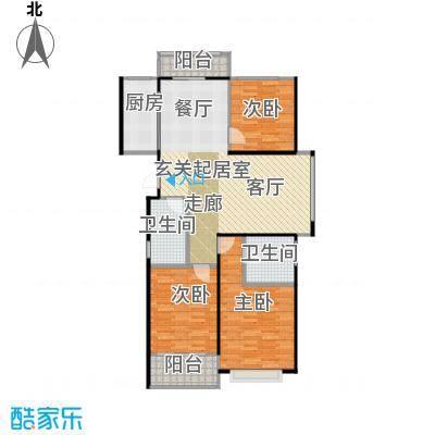 华鼎君临阁133.60㎡A1户型3室2厅2卫