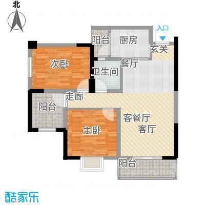 金色华府D1户型3室2厅1卫