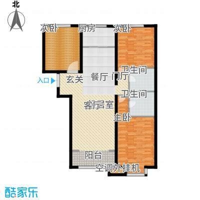 金宇新天地135.44㎡3#B1户型135.44㎡户型3室2厅2卫