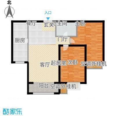 金宇新天地106.08㎡3号楼A户型106.08㎡户型2室2厅1卫