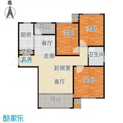 滨河湾125.28㎡G户型3室2厅1卫1厨 125.28㎡户型3室2厅1卫