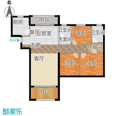 欣荣宏国际商贸城132.00㎡C户型3室2卫1厨