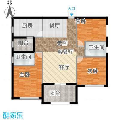 欣荣宏国际商贸城B户型3室1厅2卫1厨