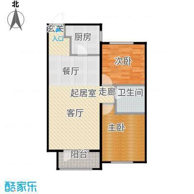 华润凯旋门90.00㎡华润凯旋门两室两厅一卫户型90平米户型2室2厅1卫