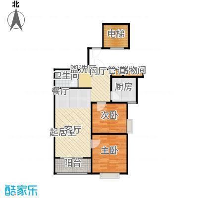 河畔中央公馆GC-C户型2室2厅1卫