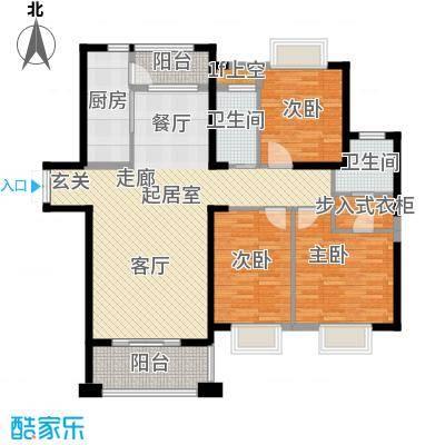 宁德万达广场135.00㎡K户型3室2厅2卫