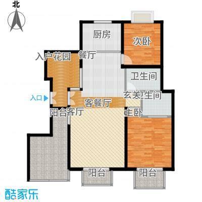 南光・洛龙湾壹号117.67㎡洋房E户型4室2厅2卫