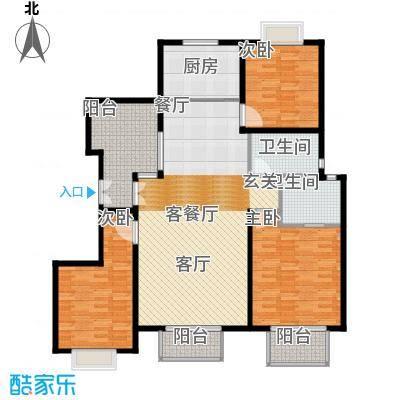南光・洛龙湾壹号134.94㎡洋房D户型4室2厅2卫