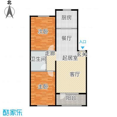 澳海澜苑87.00㎡D2-两室两厅一卫87平米户型2室2厅1卫