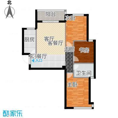 东都国际X户型3室1厅1卫1厨