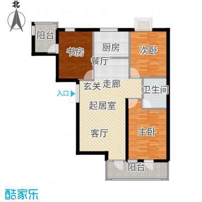 澜庭115.78㎡C户型三室两厅两卫户型3室2厅2卫