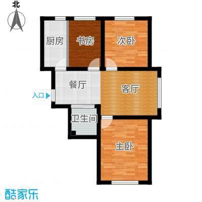 大禹奥城86.00㎡B1-三室两厅一卫-86㎡户型3室2厅1卫