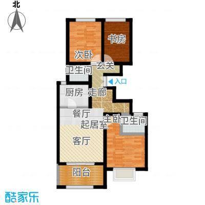 学府佳苑3室2厅2卫 115~123平米户型3室2厅2卫