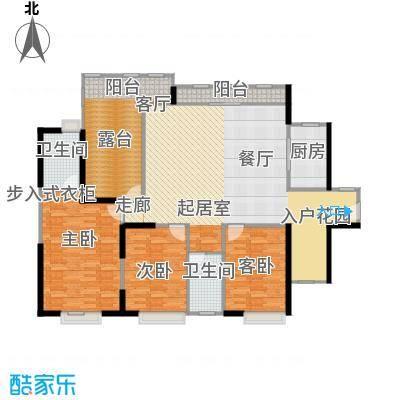 中信观澜凯旋城140.00㎡1-3栋H户型3室2卫1厨