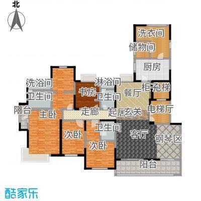 九龙仓玺园240.00㎡240㎡精装楼王户型4室3厅3卫