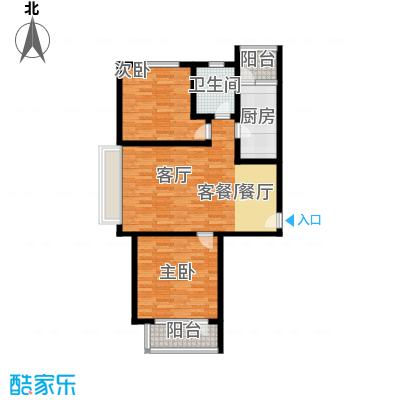 山水芳邻户型2室1厅1卫1厨