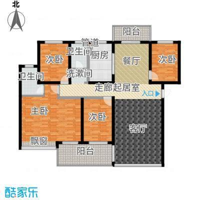 苏仙御溪园159.50㎡D户型 四房两厅两卫户型4室2厅2卫
